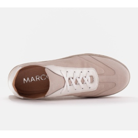 Marco Shoes Sportowe trampki z wysokiej jakości zamszu naturalnego beżowy 5