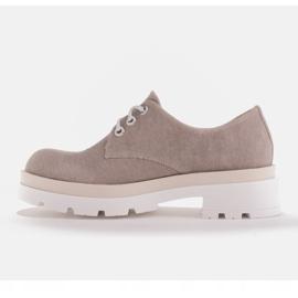 Marco Shoes Półbuty z tkaniny na grubej podeszwie szare 4