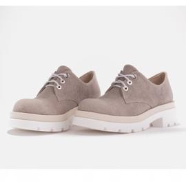 Marco Shoes Półbuty z tkaniny na grubej podeszwie szare 6