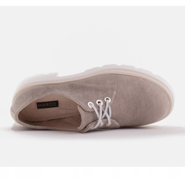 Marco Shoes Półbuty z tkaniny na grubej podeszwie szare 3