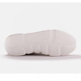 Marco Shoes Beżowe sneakersy z różową wstawką beżowy 6