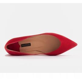 Marco Shoes Baleriny damskie z niskimi bokami czerwone 5