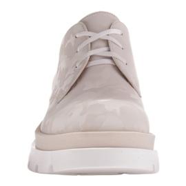 Marco Shoes Półbuty ze skóry moro na grubej podeszwie beżowy 3
