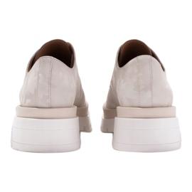 Marco Shoes Półbuty ze skóry moro na grubej podeszwie beżowy 6