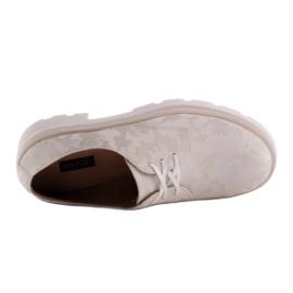 Marco Shoes Półbuty ze skóry moro na grubej podeszwie beżowy 7