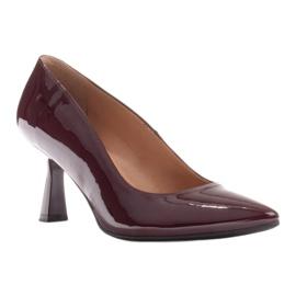 Marco Shoes Eleganckie czółenka z lakieru w kolorze bordowym czerwone 1