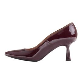Marco Shoes Eleganckie czółenka z lakieru w kolorze bordowym czerwone 3