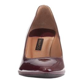 Marco Shoes Eleganckie czółenka z lakieru w kolorze bordowym czerwone 2
