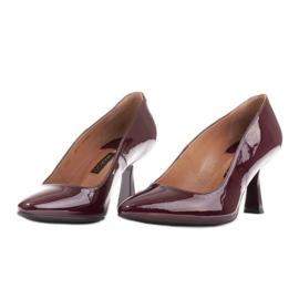 Marco Shoes Eleganckie czółenka z lakieru w kolorze bordowym czerwone 5
