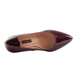 Marco Shoes Eleganckie czółenka z lakieru w kolorze bordowym czerwone 7