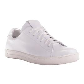 Marco Shoes Sportowe trampki z białej skóry licowej 1
