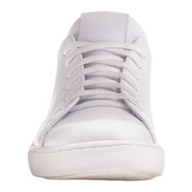 Marco Shoes Sportowe trampki z białej skóry licowej 2