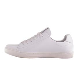 Marco Shoes Sportowe trampki z białej skóry licowej 3