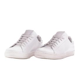 Marco Shoes Sportowe trampki z białej skóry licowej 4