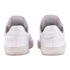 Marco Shoes Sportowe trampki z białej skóry licowej 5
