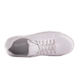 Marco Shoes Sportowe trampki z białej skóry licowej 6
