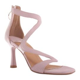Marco Shoes Eleganckie sandały Ava różowe 1