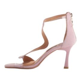 Marco Shoes Eleganckie sandały Ava różowe 3