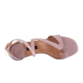 Marco Shoes Eleganckie sandały Ava różowe 6