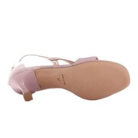 Marco Shoes Eleganckie sandały Ava różowe 7