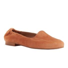 Marco Shoes Baleriny damskie z gumką w cholewce pomarańczowe 1