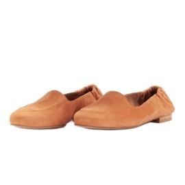Marco Shoes Baleriny damskie z gumką w cholewce pomarańczowe 4