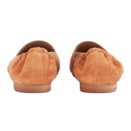 Marco Shoes Baleriny damskie z gumką w cholewce pomarańczowe 5