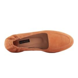 Marco Shoes Baleriny damskie z gumką w cholewce pomarańczowe 6