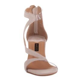 Marco Shoes Eleganckie sandały Ava beżowy 2