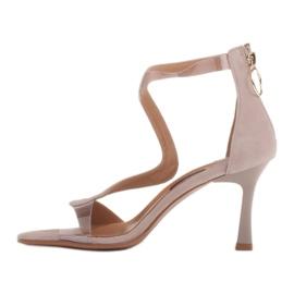 Marco Shoes Eleganckie sandały Ava beżowy 4