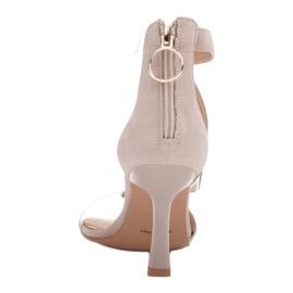 Marco Shoes Eleganckie sandały Ava beżowy 3