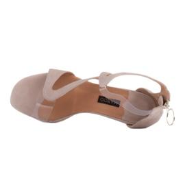 Marco Shoes Eleganckie sandały Ava beżowy 6