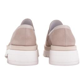 Marco Shoes Półbuty z zamszu ze wzorkiem na grubej podeszwie beżowy 6