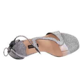 Marco Shoes Eleganckie sandały Ava białe czarne 5