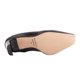 Marco Shoes Skórzane czółenka na lato z otwartym tyłem czarne 7
