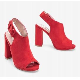 Czerwone sandały z cholewką Little Italy 1