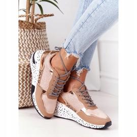 PS1 Damskie Sneakersy Na Koturnie Różowe Złoto Avery złoty 1