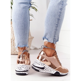 PS1 Damskie Sneakersy Na Koturnie Różowe Złoto Avery złoty 5