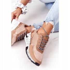 PS1 Damskie Sneakersy Na Koturnie Różowe Złoto Avery złoty 2
