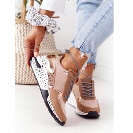 PS1 Damskie Sneakersy Na Koturnie Różowe Złoto Avery złoty 4