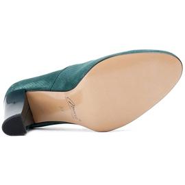 Marco Shoes Zielone czółenka 777P z wyjątkowej skóry zamszowej z kropkami 3D 6