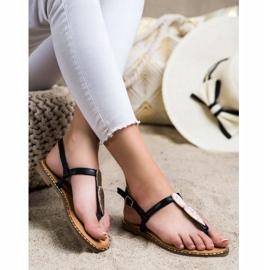 Seastar Sandały Japonki Z Ozdobą czarne 1