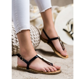 Seastar Sandały Japonki Z Ozdobą czarne 3