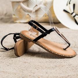 Seastar Sandały Japonki Z Ozdobą czarne 2