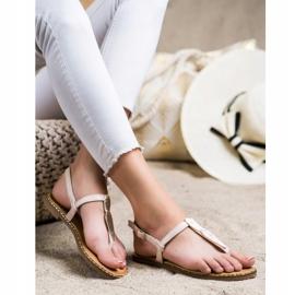 Seastar Sandały Japonki Z Ozdobą beżowy 3