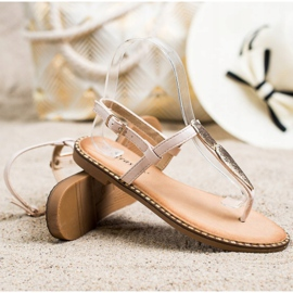 Seastar Sandały Japonki Z Ozdobą beżowy 1