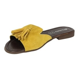 Inblu klapki obuwie damskie  158D149 żółte 3