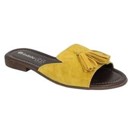 Inblu klapki obuwie damskie  158D149 żółte 2