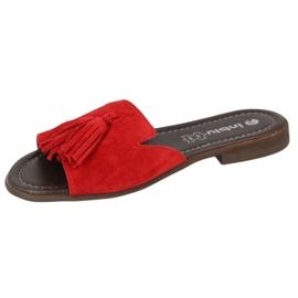 Inblu klapki obuwie damskie  158D148 czerwone 1