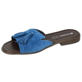 Inblu klapki obuwie damskie  158D150 niebieskie 3